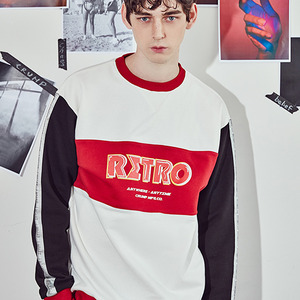[10%쿠폰] crump retro sweat shirt(CT0063-1) - white_black