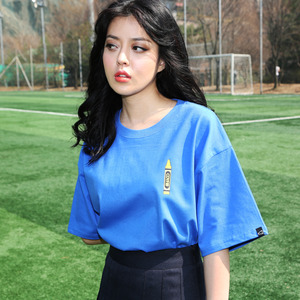 걸크러쉬 반팔티CCRAYON TEE (BLUE) / GIRL CRUSH - CFA10103B3