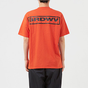 써드위브 반팔티 WIDE LOGO ROUND T-SHIRT / RUST