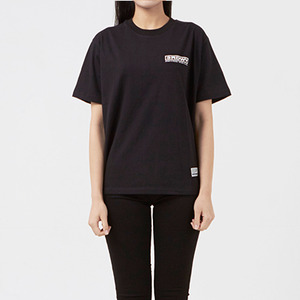 써드위브 반팔티 WIDE LOGO ROUND T-SHIRT / BLACK
