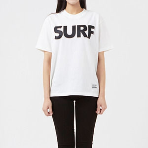 써드위브 반팔티 SURF ROUND T-SHIRT / OFF WHITE