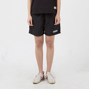 포켓 반바지 PATCH POCKET NYLON SHORT / BLACK