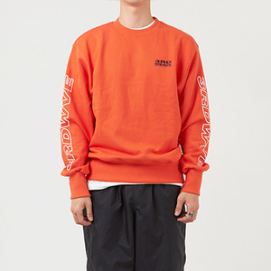 크루넥 긴팔티 OBLIQUE CREW NECK / RUST