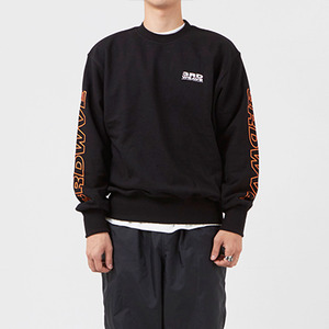 크루넥 긴팔티 OBLIQUE CREW NECK / BLACK