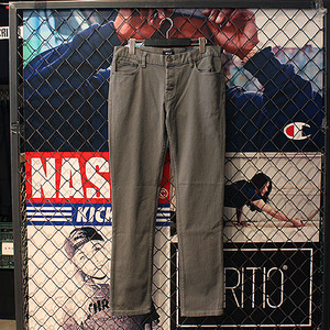 [허프] 5 POCKET BULL DENIM (GREY) - HFA17PT001GR [허프 HUF 팬츠]