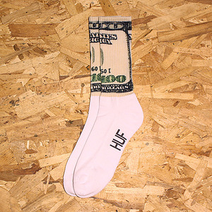 DOLLA BILLS CREW SOCK (COCA WHITE) - HFA17SK062CO