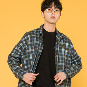 MEDIUM SQUARE CHECK SHIRTS [BLUE]