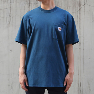 [칼하트] 포켓 반팔티Workwear T-Shirt (STREAM BLUE) - CHTK87SB