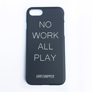 NO WORK I PHONE CASE_BLACK (야광)
