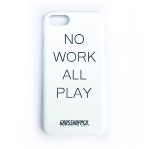 NO WORK I PHONE CASE_WHITE (야광)
