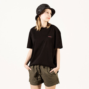 [Lebenea] Lovely Salmon tee - Black