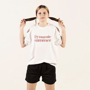 [Lebenea] Dynamic summer tee - White