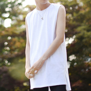 [IYD] LEYERED SLEEVELESS - white