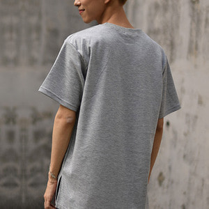 [IYD] 1/2 SHORT SLEEVES - gray
