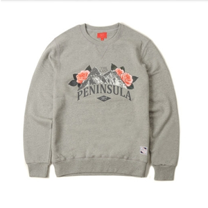 크리틱 스웻셔츠 맨투맨 MOUNTAIN BLOSSOM CREWNECK (GREY) - CTOFICR07UGY