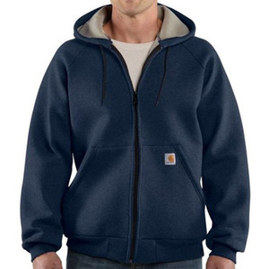[칼하트]Midweight Zip Front Hooded Sweatshirt (Navy) - CHTK122NV / 칼하트 미드웨이트 후드 집업