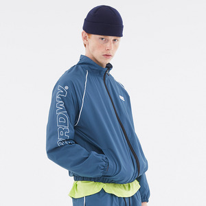 [써드위브] OBLIQUE LOGO TRACK SUIT JACKET / PURUSSIAN BLUE_3RDW17FW11
