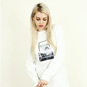 [빅스텝 단독] 켈란 긴팔티 QUADRANGLE LONG SLEEVE TEE (WHITE) - K7FWLS07