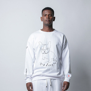 [고디크] BULLDOG DRAWING SWEATSHIRT [G7FA10U80]