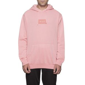 [허프] BAR LOGO OVERDYED PULLOVER (ROSE) - HF17WPF00047RO [허프 HUF 후드티]