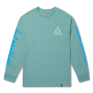 [허프] NIGHT CALL TRIPLE TRIANGLE L/S (CELADON) - HFTS00303CL [허프 HUF 긴팔티/맨투맨]