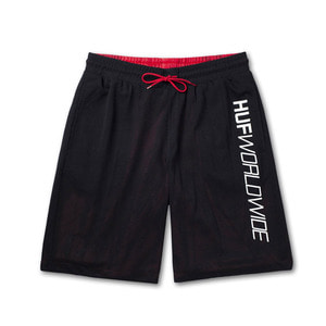 [허프] PLANTLIFE REVERSIBLE MESH SHORT (BLACK) - HFPT00060BK [허프 HUF 팬츠/반바지]