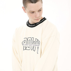 [써드위브][10%할인]ARRANGE CREW NECK SWEAT / CREAM