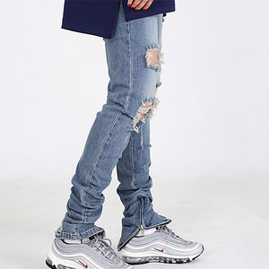 [오버도스] DESTROYED WASHING ZP SLIM JEANS