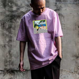[디콤파스] CARTOON OVERFIT T-SHIRT(PINK)
