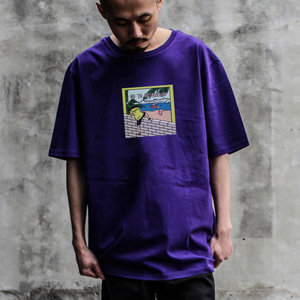 [디콤파스] CARTOON OVERFIT T-SHIRT(PURPLE)