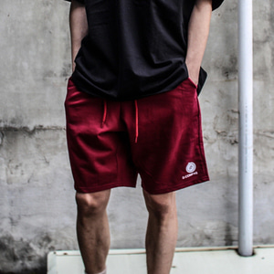 [디콤파스] LOGO BANDING SHORT PANTS(WINE)