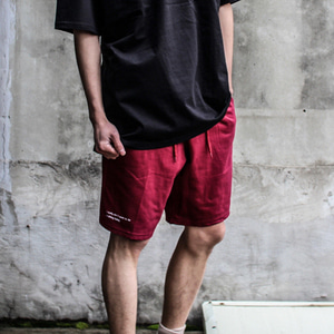 [디콤파스] RELAXING BANDING SHORT PANTS(WINE)