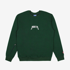 [네스티팜] NASTY BACK SIGN SWEATSHIRTS (GREEN) 맨투맨/긴팔티-NASTY16FW008