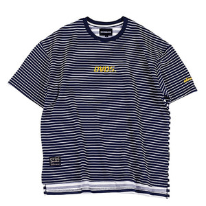 [오버도스] OVER-FIT LOGO TEE STRIPE NAVY