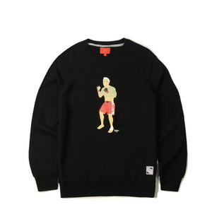 크리틱 스웻셔츠 맨투맨 CHICKEN KILLER CREWNECK (BLACK) - CTOFICR15UBK