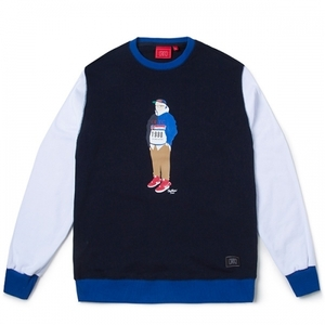 크리틱 스웻셔츠 맨투맨 CHICKEN KILLER CREWNECK (NAVY) - CTOIACR95UNV