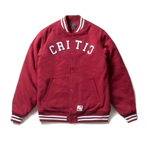 크리틱 스타디움자켓 HEAVY SWEAT VARSITY JACKET (RED) - CTOIASJ01MRD