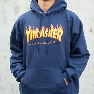 후드티 FLAME HOOD(NAVY) - THR_FLAMEHD03